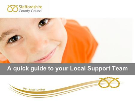 A quick guide to your Local Support Team. This presentation covers What is a Local Support Team (LST) and what it is not? Who is part of a LST? Where.