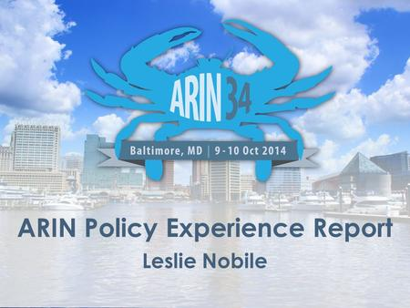 ARIN Policy Experience Report Leslie Nobile. Review existing policies – Ambiguous text/Inconsistencies/Gaps/Effectiveness Identify areas where new or.