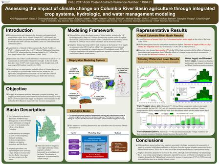 Introduction  Rising temperature and changes in the frequency and magnitude of precipitation events due to climate change (IPCC-AR4 report) are anticipated.