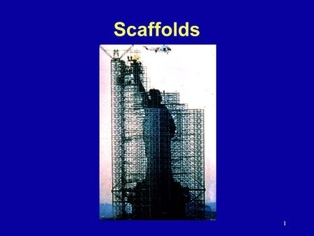 1 Scaffolds. 2 History Subpart L originally issued in December 1971 Amendments during the first two years:  Planking grade  Overhead protection  Plank.