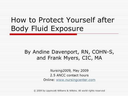How to Protect Yourself after Body Fluid Exposure