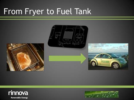 From Fryer to Fuel Tank rinnova Renewable Energy.