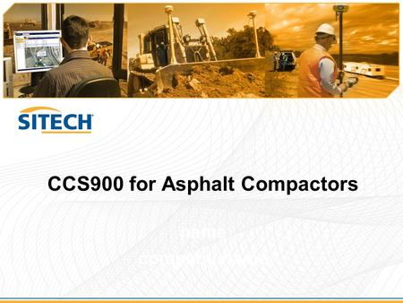 CCS900 for Asphalt Compactors