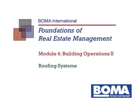 Foundations of Real Estate Management