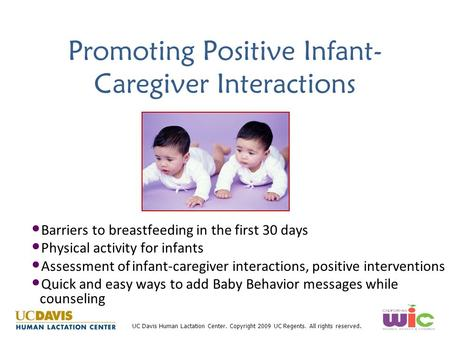 Promoting Positive Infant-Caregiver Interactions