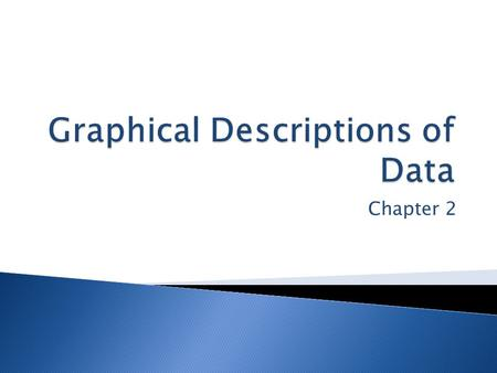 Chapter 2.  2.1 Frequency Distributions  2.2 Graphical Displays of Data  2.3 Analyzing Graphs.