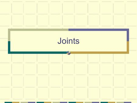 Joints. Joint (AKA Articulation) A point of contact between bones, between cartilage and bone or between teeth and bone.