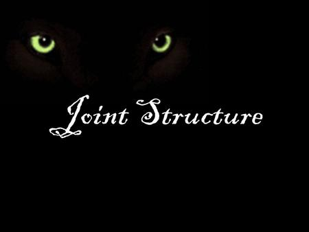 Joint Structure.