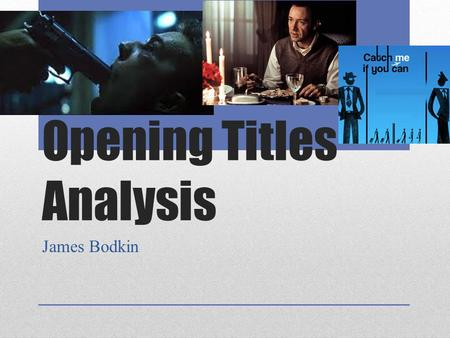 Opening Titles Analysis James Bodkin. Fight Club David Fincher 1999 The opening scenes to Fight Club are linked to the themes of Physical and Psychological.