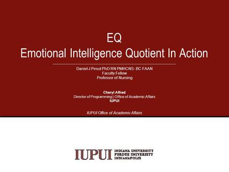 The Importance of Emotional Intelligence (EQ) TMM & EQ August ppt