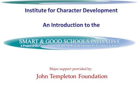 Major support provided by: John Templeton Foundation.