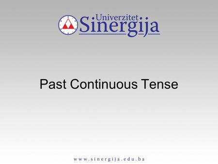 Past Continuous Tense. Past Countinuous Tense Affirmative form singular plural I was working we were working you were working he/she/it was working they.