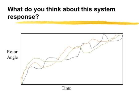 What do you think about this system response? Time Rotor Angle.