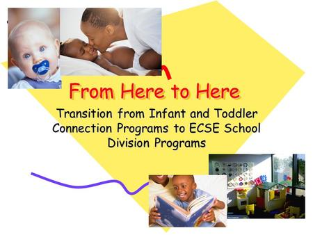 From Here to Here Transition from Infant and Toddler Connection Programs to ECSE School Division Programs.