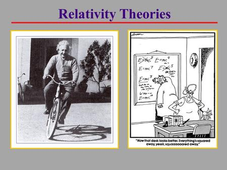 "Relativity Theories. The Principle of Relativity Although motion often appears relative, it's logical to identify a ""background"" reference frame from."