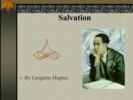 Salvation by langston hughes essay