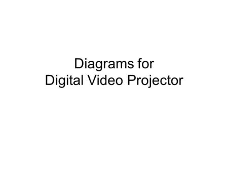 Diagrams for Digital Video Projector. Simple DVD Projection – No External Speakers Projector DVD Player S-VIDEO AUDIO SURGE PROTECTOR TO AC POWER POWER.