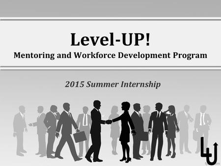 Level-UP! Mentoring and Workforce Development Program 2015 Summer Internship.