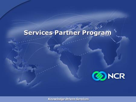 Knowledge Driven Services Services Partner Program.