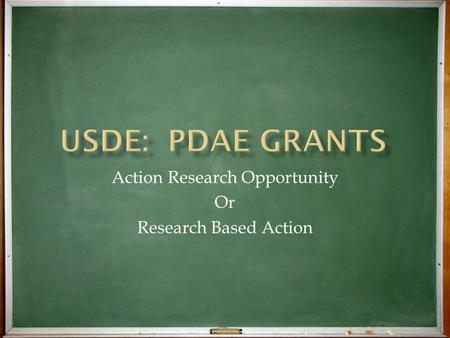 Action Research Opportunity Or Research Based Action.