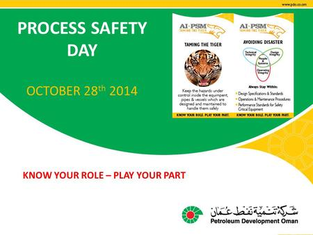 PROCESS SAFETY DAY OCTOBER 28th 2014