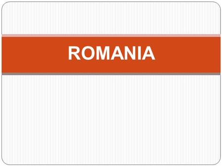 ROMANIA. Romania is situated in the southeastern part of Central Europe. Located halfway between the Equator and the North Pole, Romania is the 12th largest.