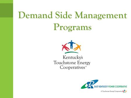 Demand Side Management Programs. Why Energy Efficiency? Money savings Increased comfort Conserve natural resources Cheapest power plant EPA Regulations?
