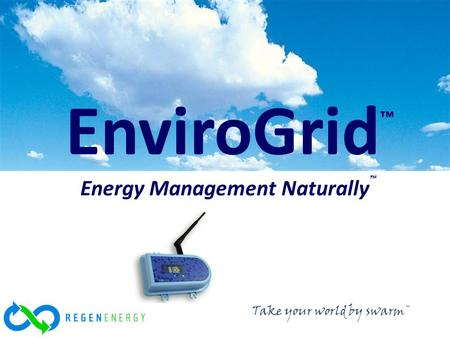 © 2011 REGEN Energy Inc EnviroGrid ™ Energy Management Naturally ™ Take your world by swarm™