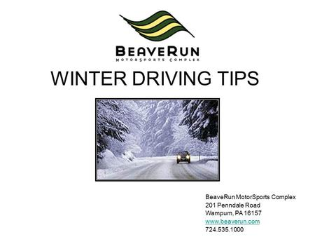 army winter drivers training powerpoint