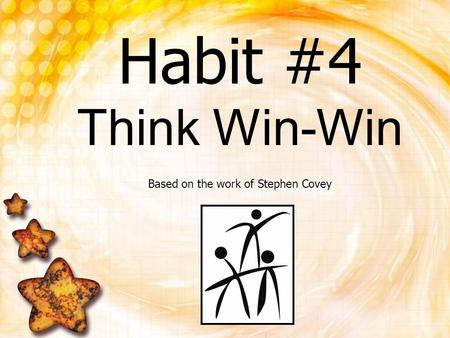 Based on the work of Stephen Covey