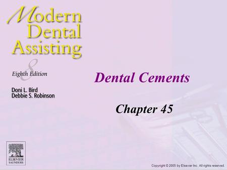Dental Cements Chapter 45