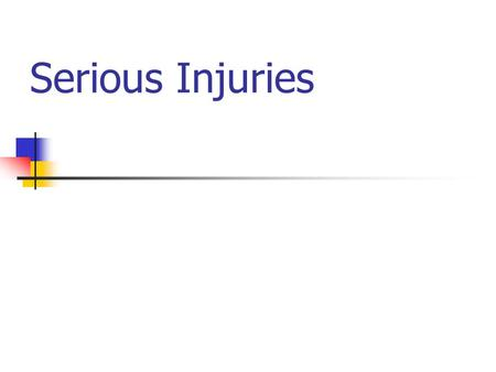 Serious Injuries. Head Injuries Intro read e-mail Prevention.