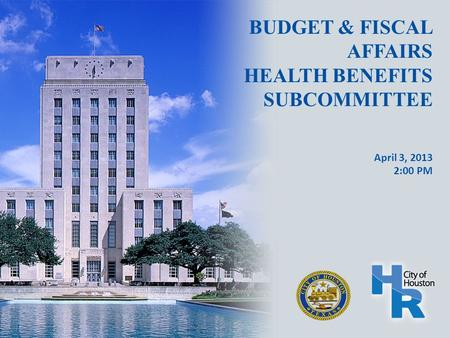 BUDGET & FISCAL AFFAIRS HEALTH BENEFITS SUBCOMMITTEE April 3, 2013 2:00 PM.