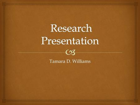 Tamara D. Williams.   This study explores the variances, specifically gender and minority status, predictors, and theories associated with the availability.