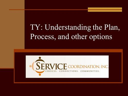 TY: Understanding the Plan, Process, and other options.
