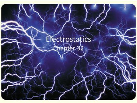 Electrostatics Chapter 32. Electrical forces arise from particles in atoms Electrons are attracted to protons. This holds electrons in orbits around the.