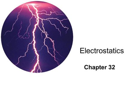 Electrostatics Chapter 32. 32.1 Electrical forces and Charges Electrical forces are from _________ _______ attract & _____ repel.