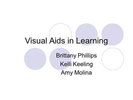 Visual Aids in Learning