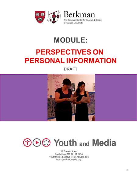 Module: Perspectives on Personal information
