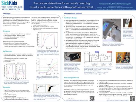 Poster:  Light sensor Various types (photo-transistors, -resistors or -diodes) exhibit a wide range of response.