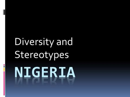 Diversity and Stereotypes