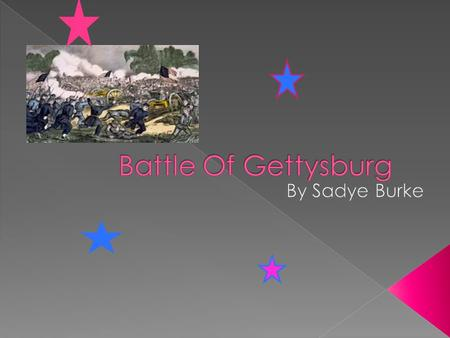 It was July 1st 1863 the first day of battling in Gettysburg Pennsylvania. Joshua Chamberlain had less than 400 soldiers that didn't have experience.
