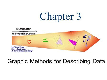 Chapter 3 Graphic Methods for Describing Data. 2 Basic Terms  A frequency distribution for categorical data is a table that displays the possible categories.