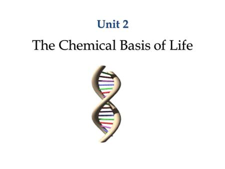 Unit 2 The Chemical Basis of Life. Key Words and Concepts Element Element Atom Atom Compounds Compounds Molecule Molecule Ions Ions Acid and base Acid.