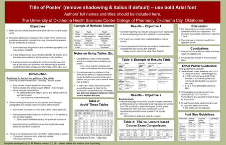Title of Poster (remove shadowing & italics if default) – use bold Arial font Authors' full names and titles should be included here. The University of.