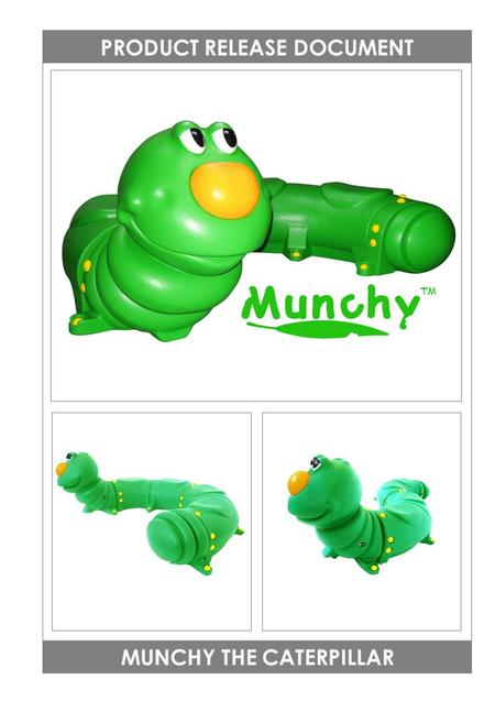 MUNCHY THE CATERPILLAR PRODUCT RELEASE DOCUMENT TM.