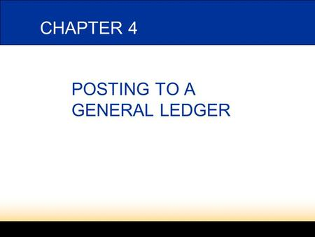 Lesson 1-4 POSTING TO A GENERAL LEDGER