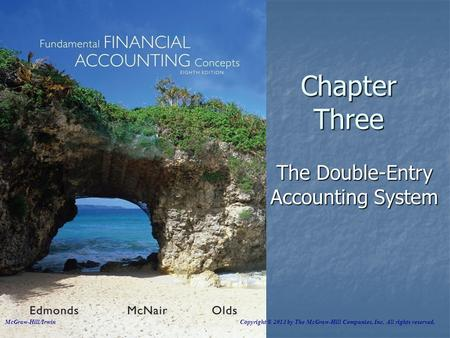 Chapter Three The Double-Entry Accounting System McGraw-Hill/Irwin Copyright © 2013 by The McGraw-Hill Companies, Inc. All rights reserved.