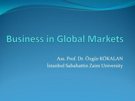 Business in Global Markets