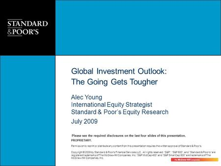 Global Investment Outlook: The Going Gets Tougher